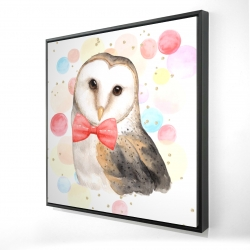 Framed 24 x 24 - 3D - Chic owl