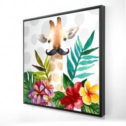 Framed 24 x 24 - 3D - Exotic giraffe