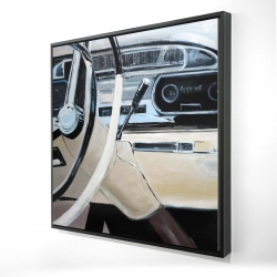 Framed 24 x 24 - 3D - 1950s car dashboard