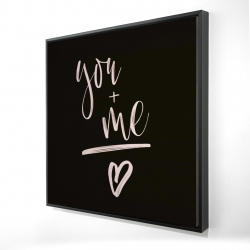 Framed 24 x 24 - 3D - You + me