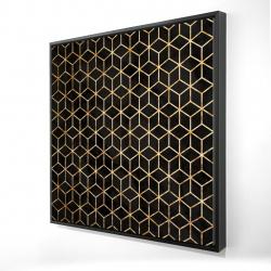 Framed 24 x 24 - 3D - Symmetry