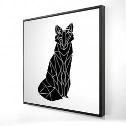 Framed 24 x 24 - 3D - Geometric fox
