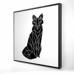 Framed 24 x 24 - 3D - Geometric fox
