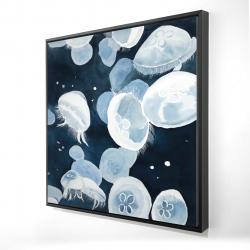 Framed 24 x 24 - 3D - Jellyfishs