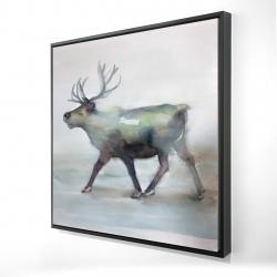 Framed 24 x 24 - 3D - Caribou