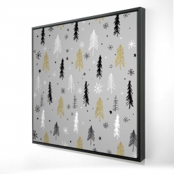 Framed 24 x 24 - 3D - Christmas tree pattern