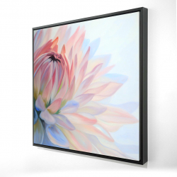 Framed 24 x 24 - 3D - Lotus pastel flower