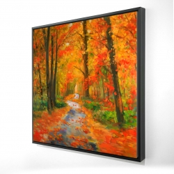 Framed 24 x 24 - 3D - Autumn trail