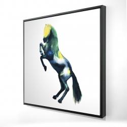 Framed 24 x 24 - 3D - Greeting horse