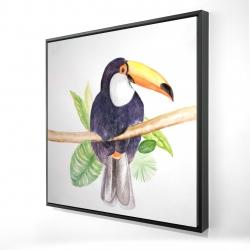 Framed 24 x 24 - 3D - Toucan