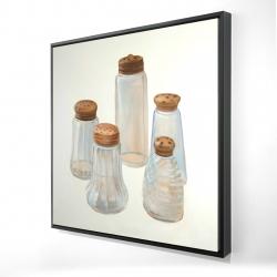 Framed 24 x 24 - 3D - Vintage salt and pepper shaker