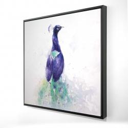 Framed 24 x 24 - 3D - Graceful peacock
