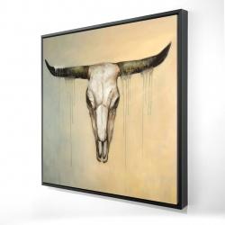 Framed 24 x 24 - 3D - Bull skull