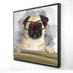 Framed 24 x 24 - 3D - Geek carlin