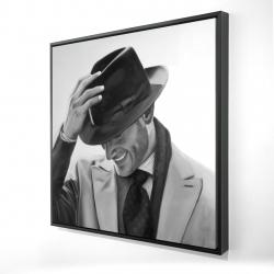 Framed 24 x 24 - 3D - Well-dressed man