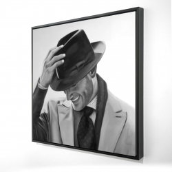 Framed 24 x 24 - 3D - Well-dressed man