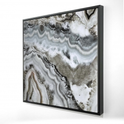 Framed 24 x 24 - 3D - Abstract geode