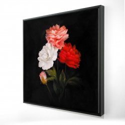 Framed 24 x 24 - 3D - Small bundle of roses