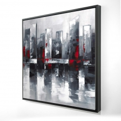 Framed 24 x 24 - 3D - Abstract cityscape
