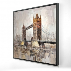 Framed 24 x 24 - 3D - London tower bridge