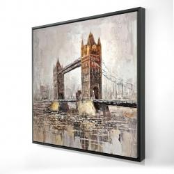 Framed 24 x 24 - 3D - London tower bridge