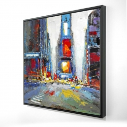 Framed 24 x 24 - 3D - Abstract and colorful buildings