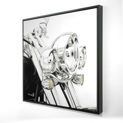 Framed 24 x 24 - 3D - Motorcycle light