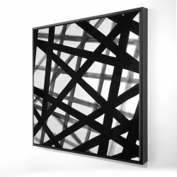 Framed 24 x 24 - 3D - Abstract bold lines