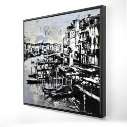Framed 24 x 24 - 3D - Abstract venise port