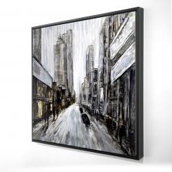 Framed 24 x 24 - 3D - Gray gloomy street