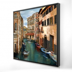 Framed 24 x 24 - 3D - Magical venice canal
