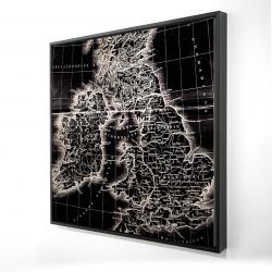 Framed 24 x 24 - 3D - Roman britain maps