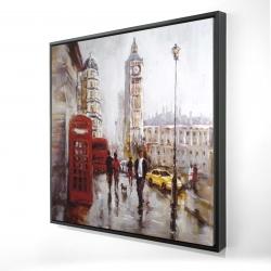 Framed 24 x 24 - 3D - The big ben at london