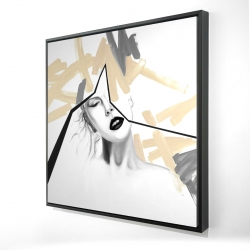 Framed 48 x 48 - 3D - Divided woman