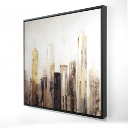 Framed 24 x 24 - 3D - Earthy tones city