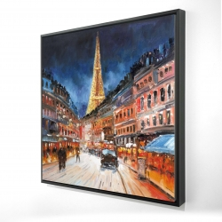 Framed 24 x 24 - 3D - Red & blue paris