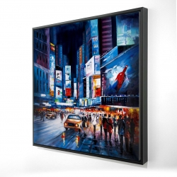 Framed 24 x 24 - 3D - Abtract times square