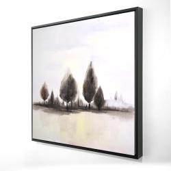 Framed 24 x 24 - 3D - Landscape of trees