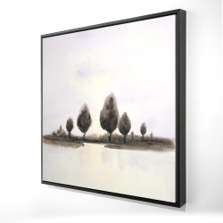 Framed 24 x 24 - 3D - Abstract landscape of trees