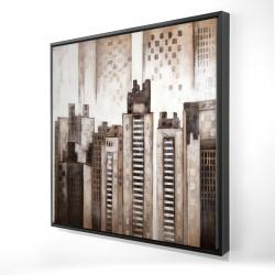Framed 24 x 24 - 3D - Square city