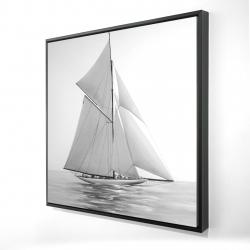 Framed 24 x 24 - 3D - Sailing ship