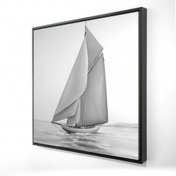 Framed 24 x 24 - 3D - Vintage sailing ship