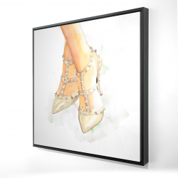 Framed 24 x 24 - 3D - Studded high heels