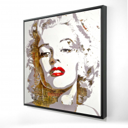 Framed 24 x 24 - 3D - Marilyn monroe with typography