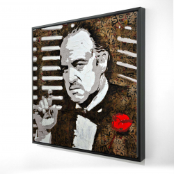 Framed 24 x 24 - 3D - Black and white the godfather