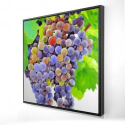 Framed 24 x 24 - 3D - Bunch of grapes