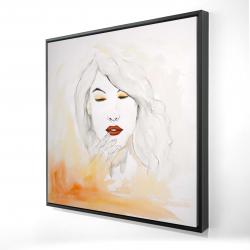 Framed 24 x 24 - 3D - Portrait in watercolor