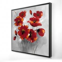 Framed 24 x 24 - 3D - Anemone flowers