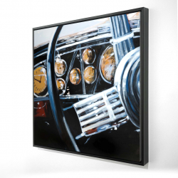 Framed 24 x 24 - 3D - Vintage car interior