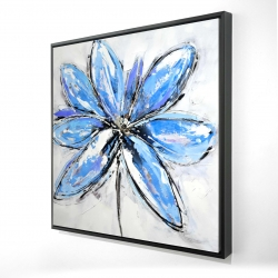 Framed 24 x 24 - 3D - Blue flower